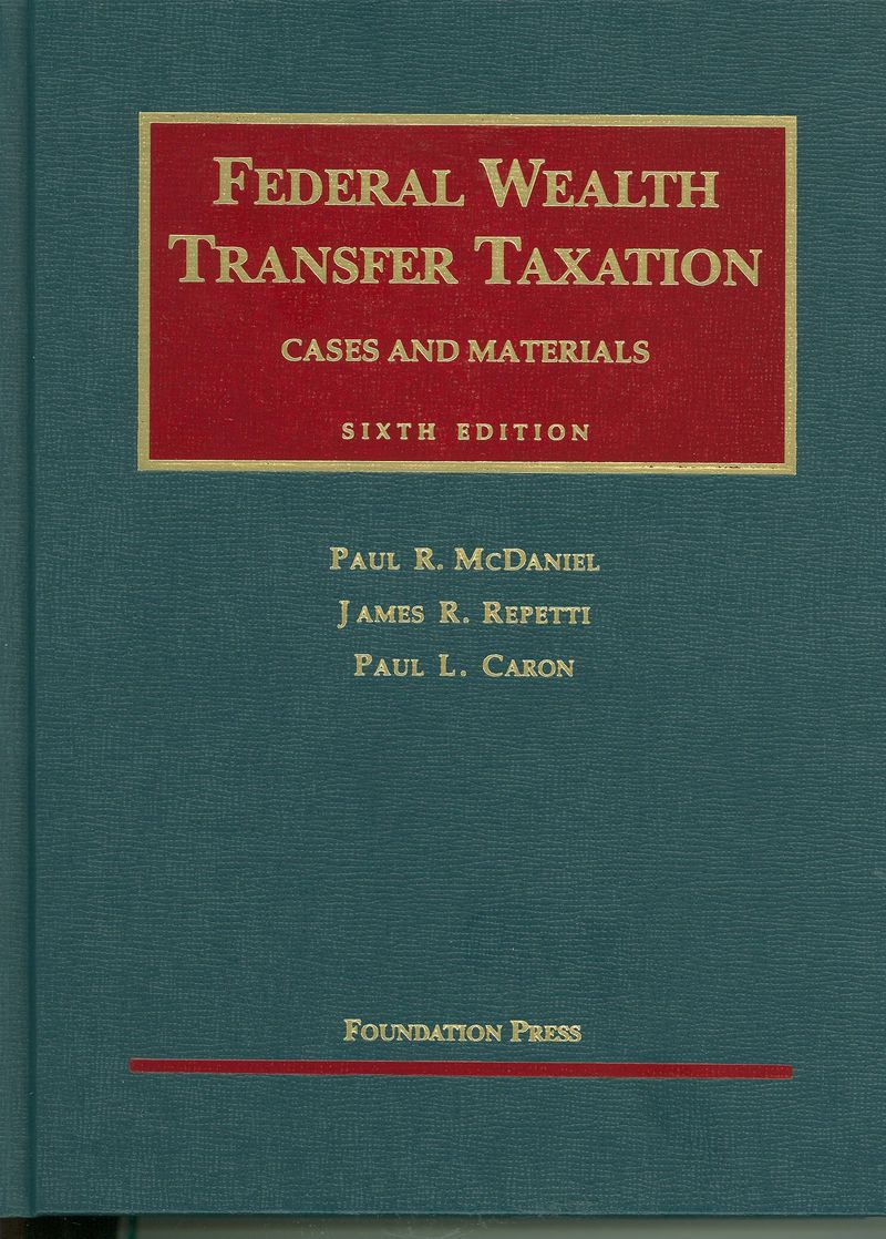 Federal Wealth Transfer Taxation Cover