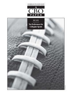 Tax Preferences for Collegiate Sports