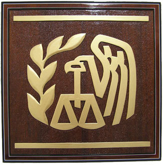 IRS Logo Plaque