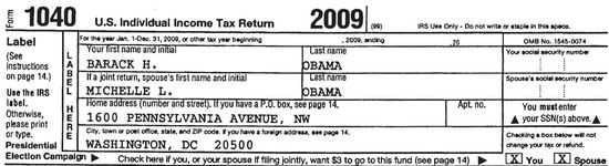 Obama Tax Return