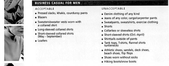 Weil Dress Code (Men)