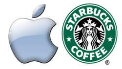 Apple Starbucks Logos