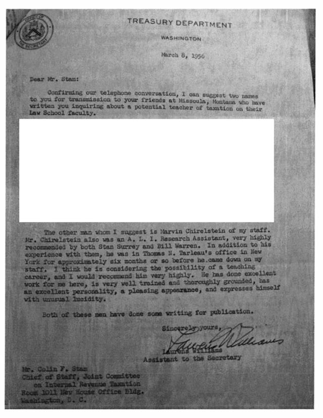 Chirelstein letter