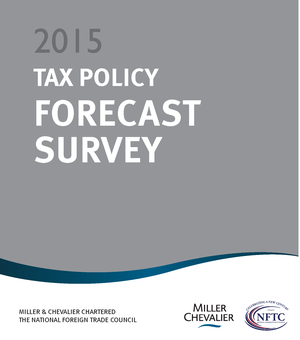 2015 Tax Survey Report Cover