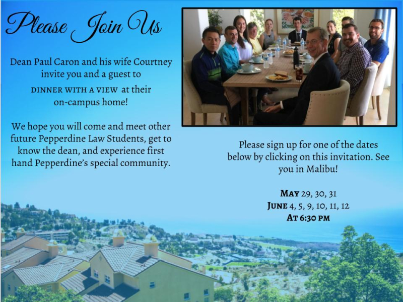 Caron Admitted Students Dinners