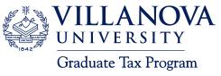 Villanova Grad Tax Program Logo