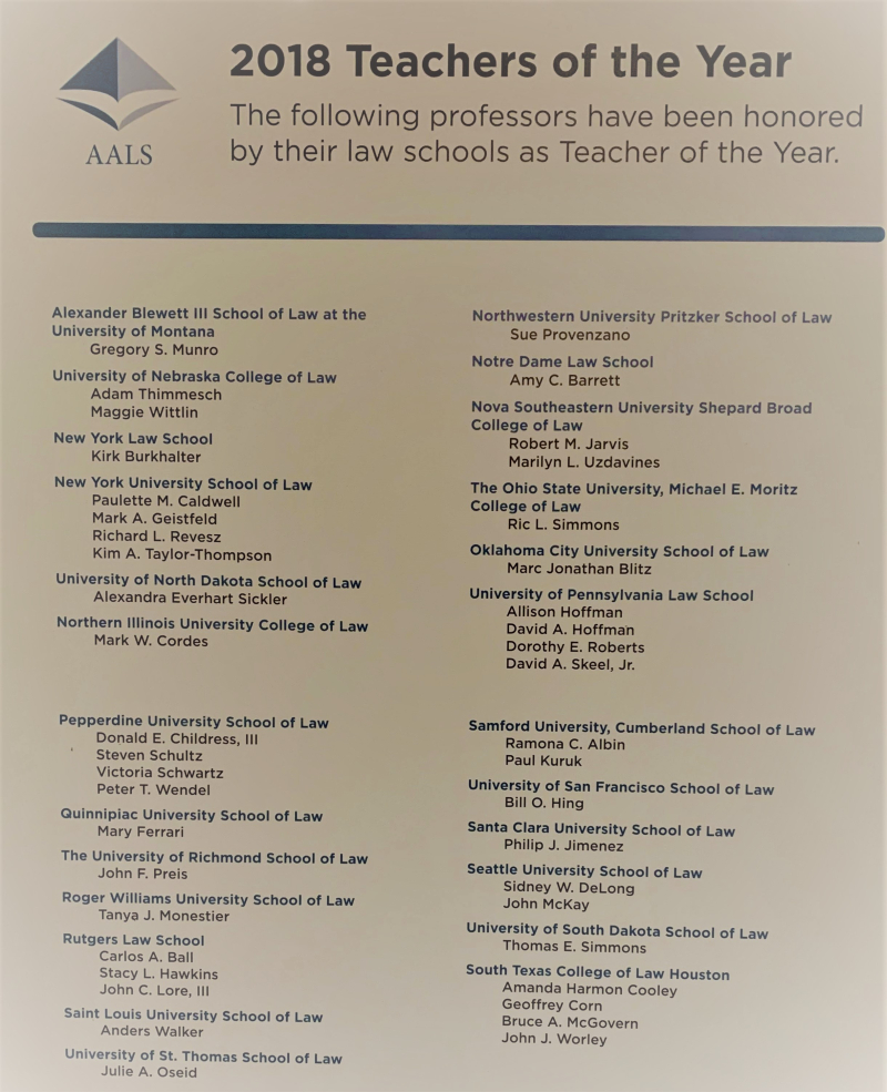 AALS Teacher of the Year