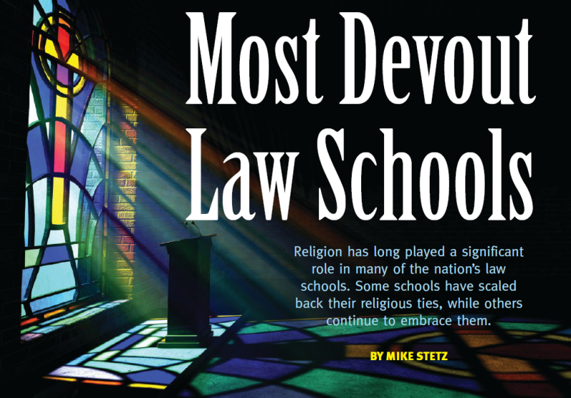 Most Devout Law Schools