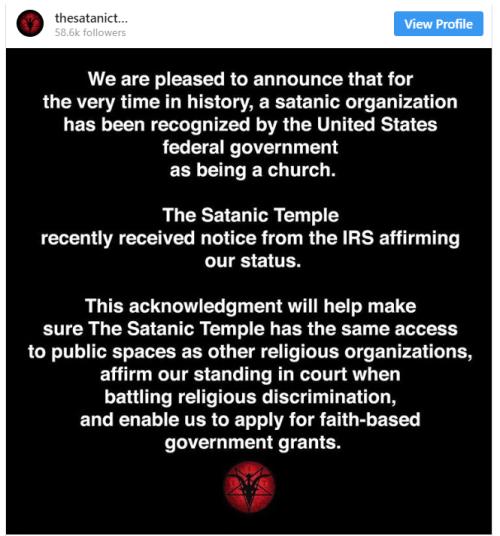Satanic InstaGram