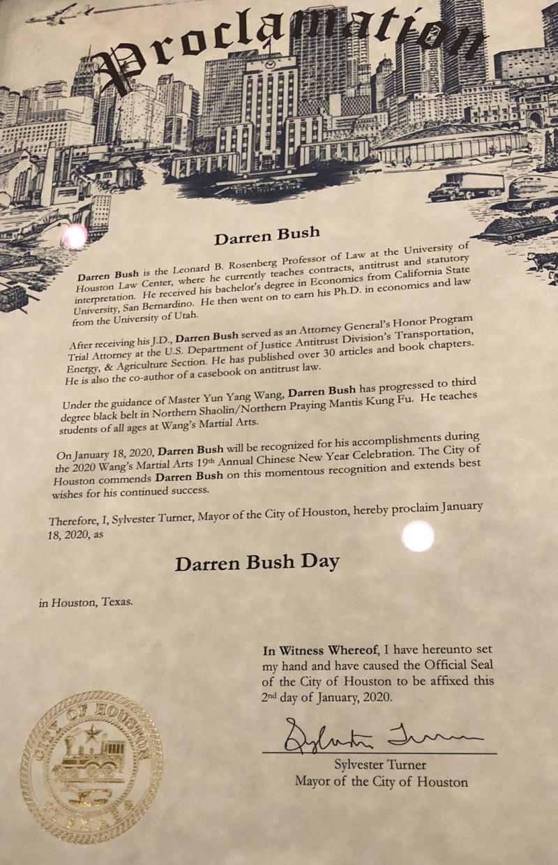 Bush Proclamation