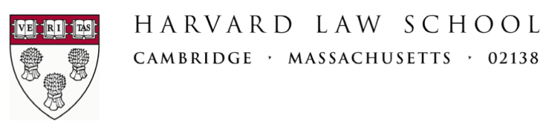 Harvard Law School Letterhead
