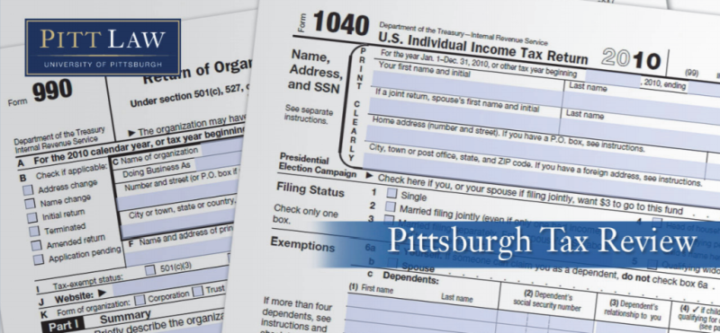 Pittsburgh Tax Review (2021)