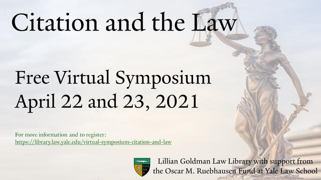Yale Citation and the Law Conference